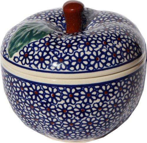Polish Pottery Apple Baker From Zaklady Ceramiczne Boleslawiec #1425-120, Dimensions: Width: 4.9