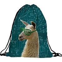 PREMYO Bolsa de Cuerdas Saco de Gimnasio Deporte Mochila Mujer Hombre con Impresión Alpaca Motivo Gracioso Práctico…