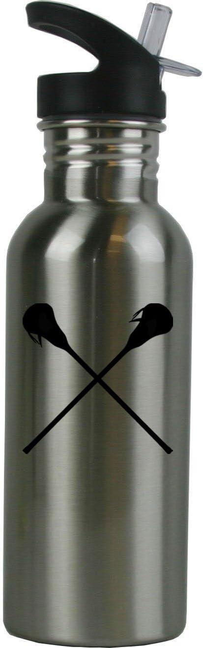 Personalized lacrosse 24 ounce BPA free water bottle