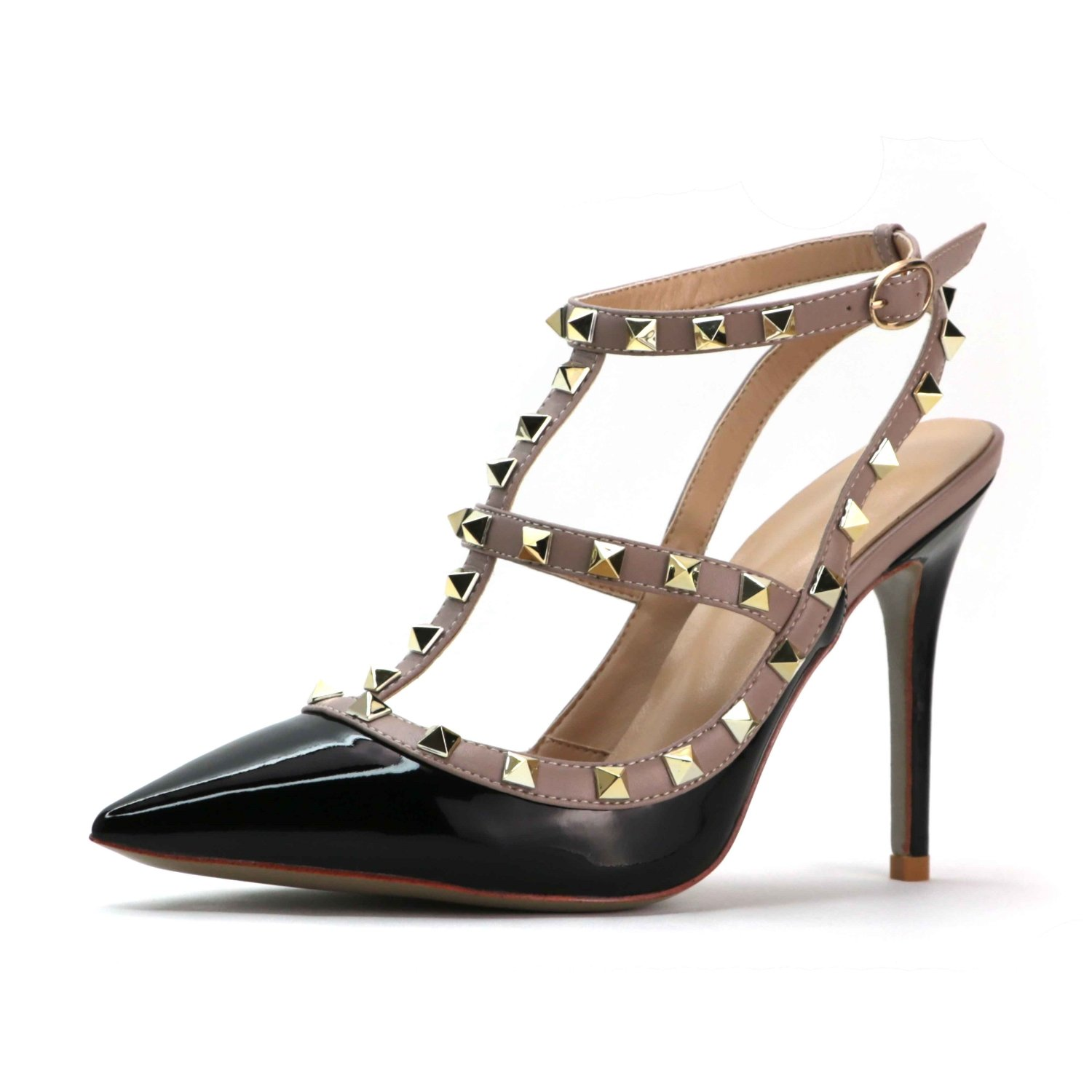 Roni Bouker Womens Summer Daily Strappy Spikes high Heeled Sandals