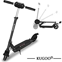 KUGOO S1 Patinetes eléctricos/Scooter eléctrico de Altura Ajustable Plegable - Tres Colores (Blanco Negro Azul)