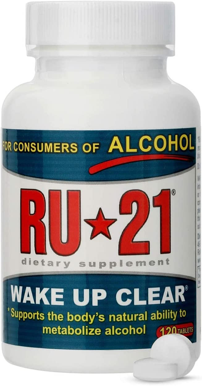 RU-21 Wake Up Clear After Drinking, Supports The Body s Ability to Metabolize Alcohol 120-Pill Bottle