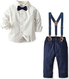 Amazon.com: Conjunto de ropa de manga larga con tirantes ...
