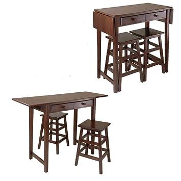 Amazon.com - EFD Breakfast Wooden Table Set Stools Kitchen ...