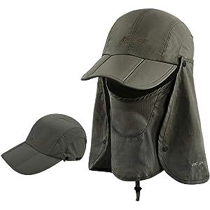 6a5dd2576e8d9 ICOLOR Sun Caps Flap Hats UV 360° Solar Protection UPF 50+ Sun Cap Shade