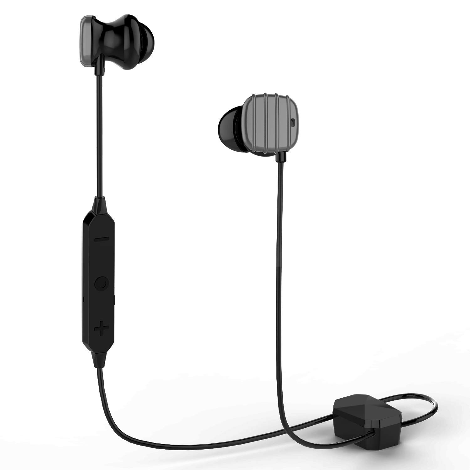 Bluetooth Headphones,COWIN HE8D Active Noise Cancelling Headphones Wireless Sports Earphones,HiFi Bass Stereo Sweatproof Earbuds for Workout,Gym,Runing,15 Hours Play Time-Light Gray