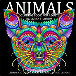 Amazon Animal Discover 50 Unique Stress Relieving Designs Adult Coloring Books