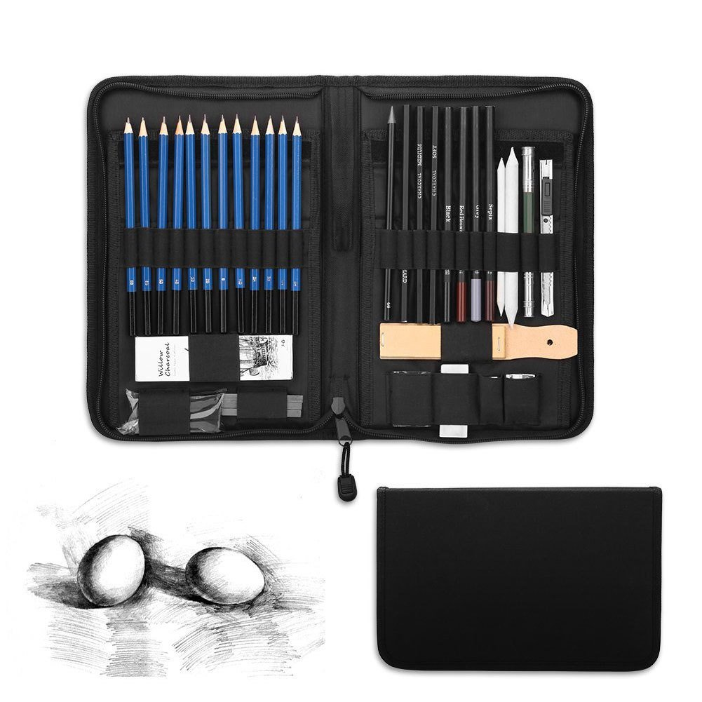 Amazon com 48 piece professional art sketch pencils drawing set
