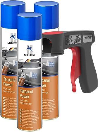 Auprotec High Tech Spezialreiniger Terpanol Power Spray 3x 400ml 1x Original Pistolengriff Auto