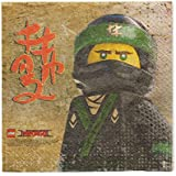 American Greetings Lego Ninjago Lunch Paper Party Napkins, Lunch Napkins, 16-Count