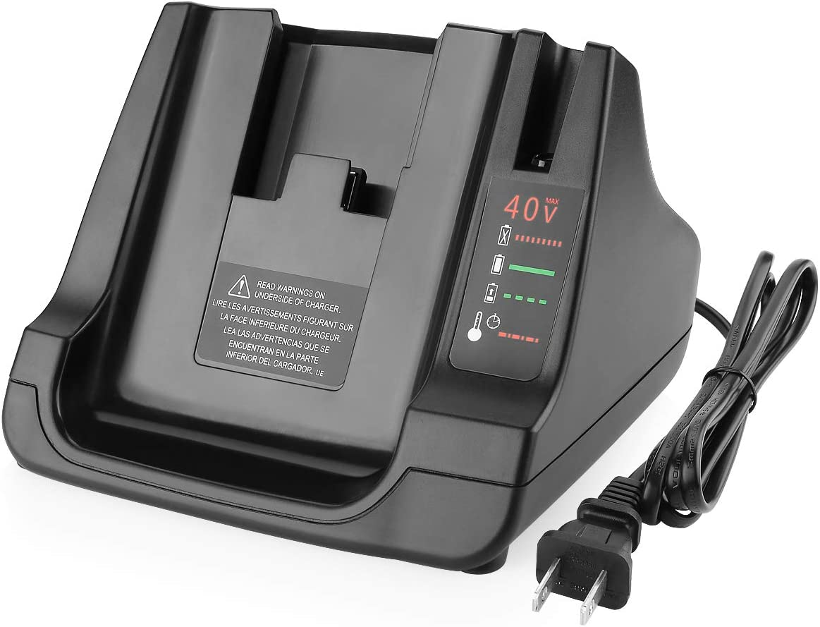 Energup LCS40 Charger for Black and Decker 40V MAX Battery LCS36 LCS40 Fast Charger for Black Decker 40V LBX2040 LBXR36 LBXR2036 LST540 LCS1240 LBX1540 LST136 Black and Decker 40V Battery Charger