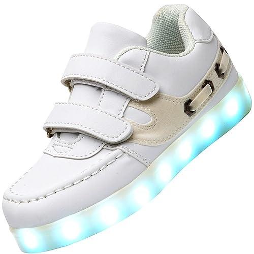 Odema Zapatillas de Luz LED Colores Unisex para Ninos DflWAJ