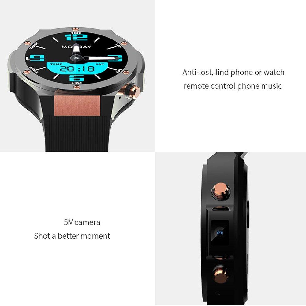 Docooler Microwear H2 Smartwatch Phone 5.0MP Camera Android 5.1 Monitor de ritmo cardíaco Podómetro Llamadas Mensajes Aplicaciones Recordatorio Smartwatch ...