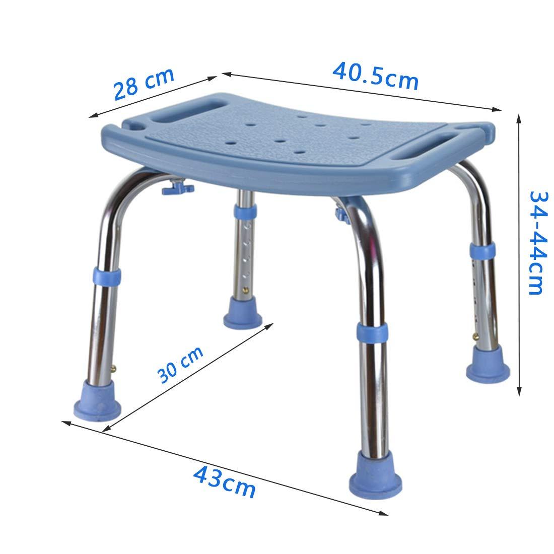 WENTAO Sgabello Da Bagno//Doccia Altezza Regolabile 5 Gear//Alluminio E Plastica PE//Disabilit/à Anziani//Donne In Gravidanza Massimo Carico Statico 136 Kg