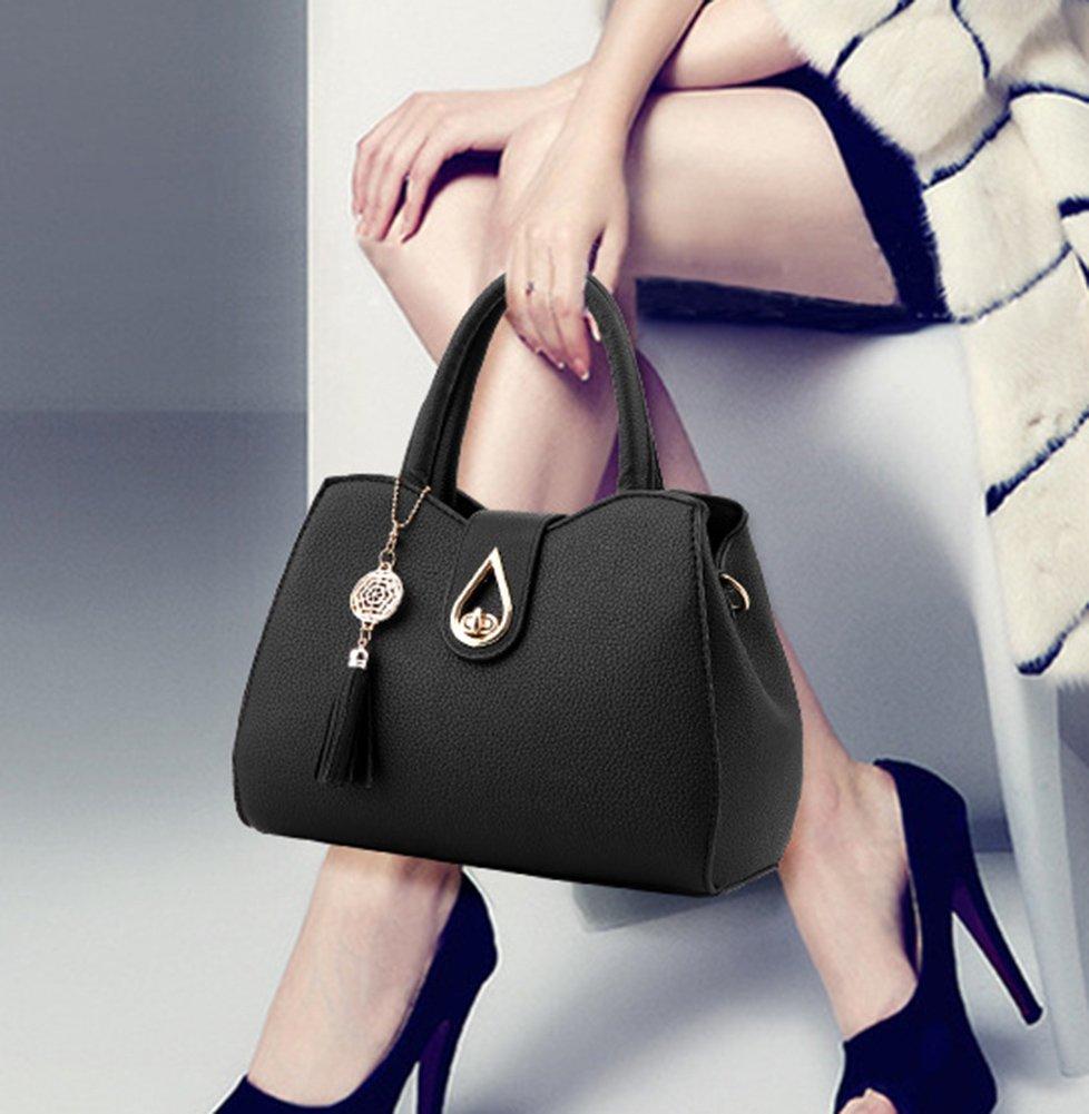 9ecd4b906c616 ZiXing Frauen PU Leder Henkeltaschen Schultertaschen Tasche Handtasche Mit  Schulterriemen Blau  Amazon.de  Koffer