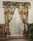 ''The Woods'' Camo Curtain & Valance 5 Piece Drape Set White