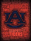 #6: Officially Licensed Auburn Tigers Roar 24x18 Football Poster