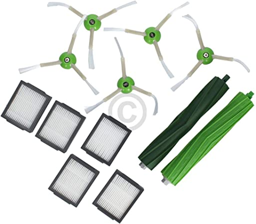 Recambios de repuesto para iRobot 4624878 cepillo de goma cepillo lateral filtro para aspiradora Roomba series