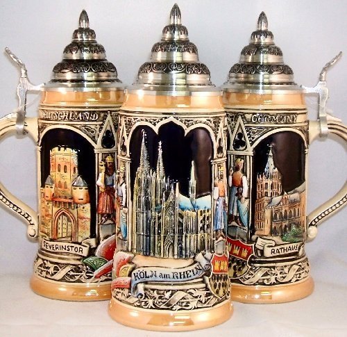 Koln Cologne Germany LE German Beer Stein .5L One New Mug Made in Germany