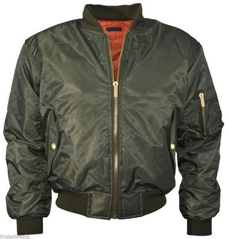 09171f86da6a6 Plus Size MA1 Womens Ladies Big Bomber Jacket Flight Army Military Vintage  Biker at Amazon Women s Coats Shop