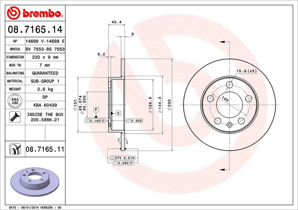 p85072/ p85020 Super kit disques et plaquettes avant et arri/ère dorigine Brembo 09.9167.10/ 08.9502.10/