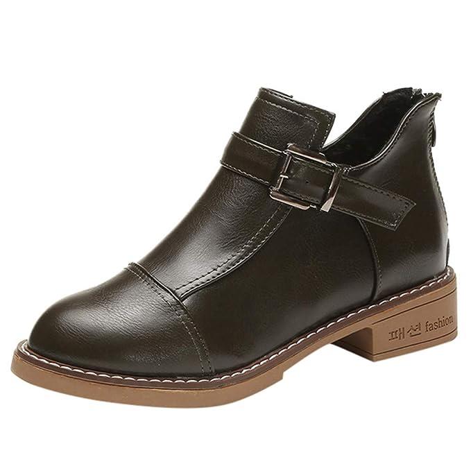 Beladla Zapatos De Mujer Estilo BritáNico Botas Navidad Zapatos De OtoñO E Invierno Botines: Amazon.es: Ropa y accesorios