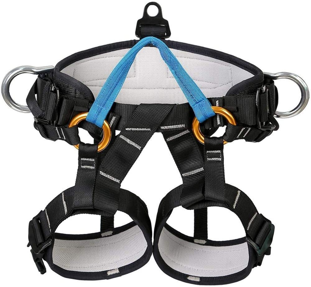 Bdesign Rock Climbing Harness Tree Climbing Rope Adjustable Mountaineering Rappelling Safe Seat Belts for Men Women