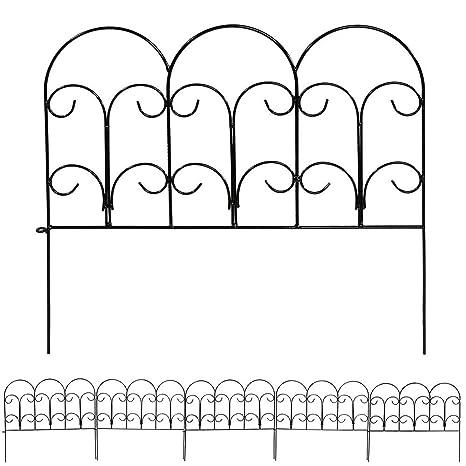 Amazon.com : Sunnydaze 5 Piece Victorian Border Fence Set, 16 Inches ...