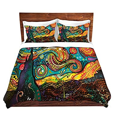 Duvet Cover Brushed Twill Twin, Queen, King SETs DiaNoche Designs by Dean Russo Starry Night Unique Home Decor Bedding ideas