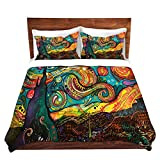 DiaNoche Designs Brushed Twill Home Decor Bedding Cover, 7 Queen Duvet Sham Set