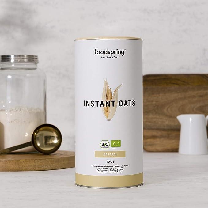 foodspring Orgánica Instant Oats, 1000g, El método conocido para ganar peso más natural: Amazon.es: Salud y cuidado personal