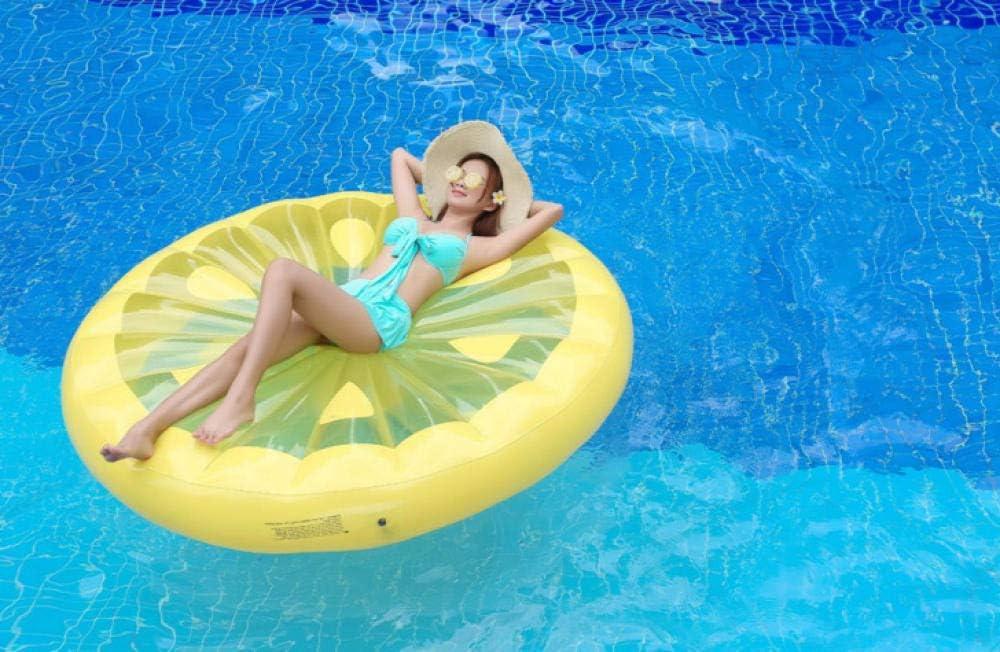 Svvsgf Juguetes acuáticos para Piscina, 180 cm de Agua Inflable limón Fila Flotante Fruta Fila Flotante Anillo Flotante Anillo de natación sandía Cama Flotante