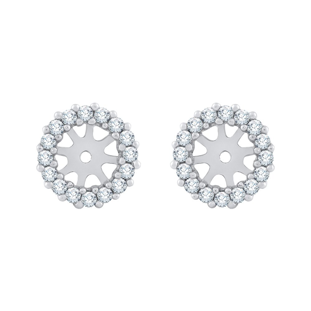 Diamond Earring Jackets in 14K White Gold (1/3 cttw) (Color GH, Clarity I2-I3)
