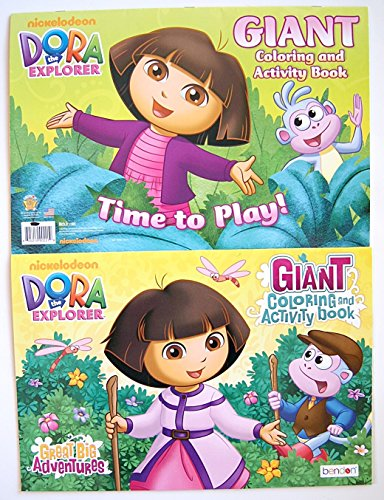Set Of 2 Dora The Explorer Giant Coloring And Activity