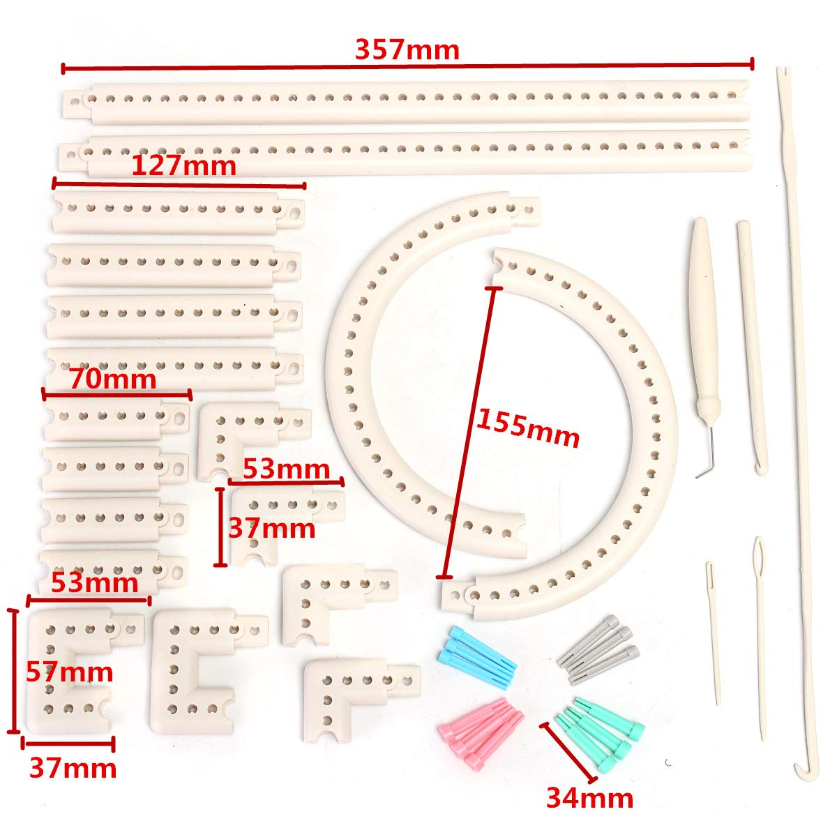 Wayion Multi-Function Craft Yarn Martha Stewart Crafts Knit and Weave Loom Kit DIY Tool by Wayion (Image #9)