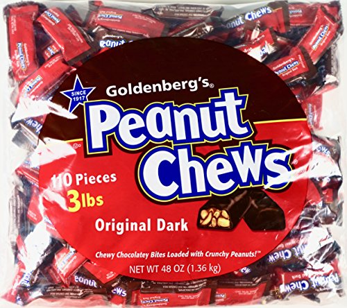 Goldenberg's Peanut Chews Original Classic Dark Chocolate, 110 Pieces