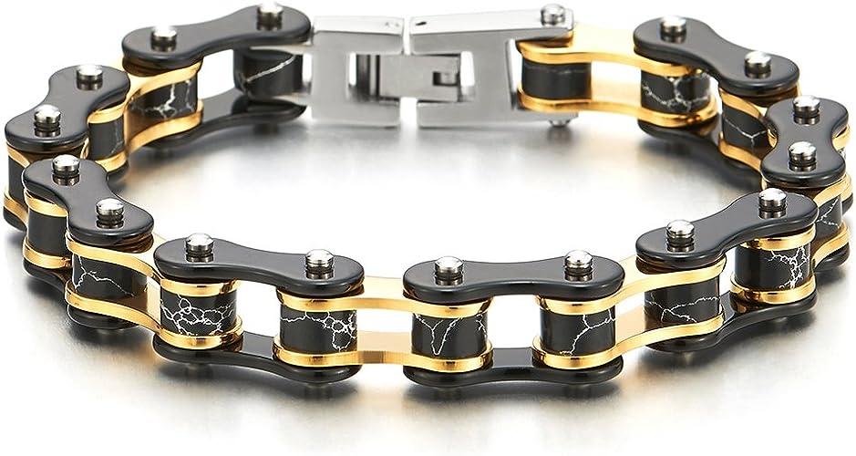 Bracelet Stainless Steel Jewellery 100/% Biker chain NEW