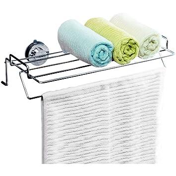 Gbf Toallero toallero de baño toallero de baño de Cocina toallero de Acero Inoxidable Potente Ventosa Puede Colgar 7 Toallas: Amazon.es: Hogar