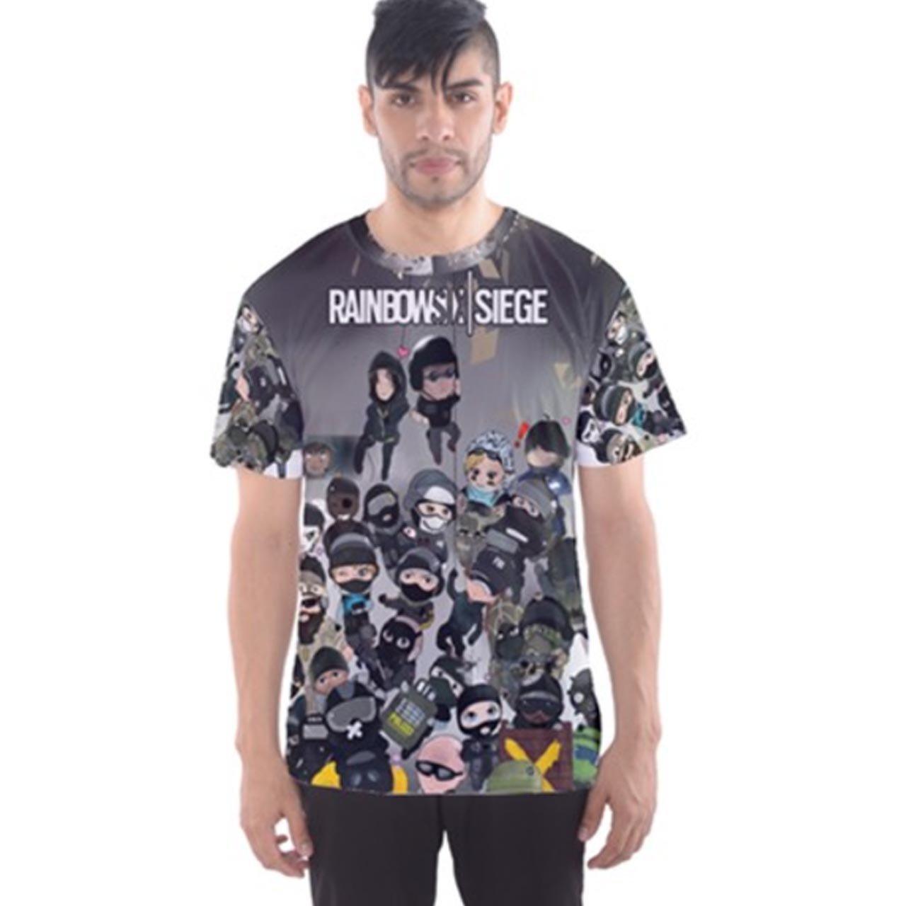 Rainbow Six Siege ChibisメンズTシャツTee Fullprint TシャツサイズM   B075LB8PZJ