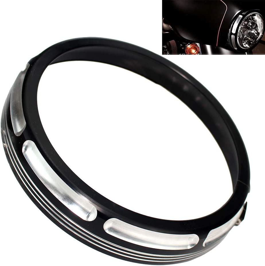 WINALL Motorcycle 7 inch Headlight Trim Ring for Harley Touring Street Electra Glide Road King 2006-2018