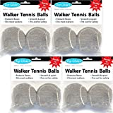 Top Glides Precut Walker Tennis Ball Glides - Gray - 4 Pairs