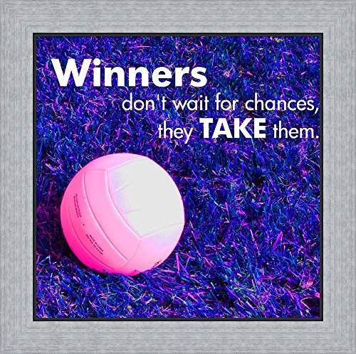 Winners Don't Wait for Chances by Sports Mania Framed Art Print Wall Picture, Flat