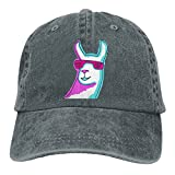 Men Women Cool Llama Sunglass 1 Adjustable Jeans Baseball Cap Sun Hat