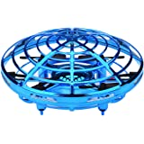 Amazingbuy Mini Drones for Kids UFO Drone Rechargeable Mini Quadcopter Motion Hand Controlled Drone Flying Toys with Led Light Beginner RC Helicopter Gifts for Children Kids Adults