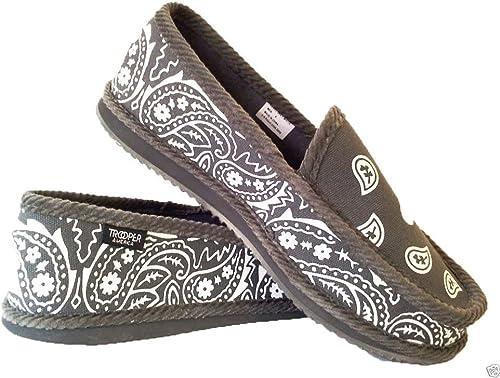 Grey Bandana House Shoes Slippers