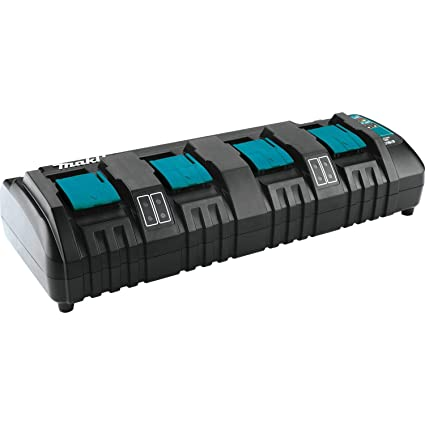 Makita DC18SF 18V Lithium-Ion Rapid Optimum 4-Port Charger, 1-Pack on