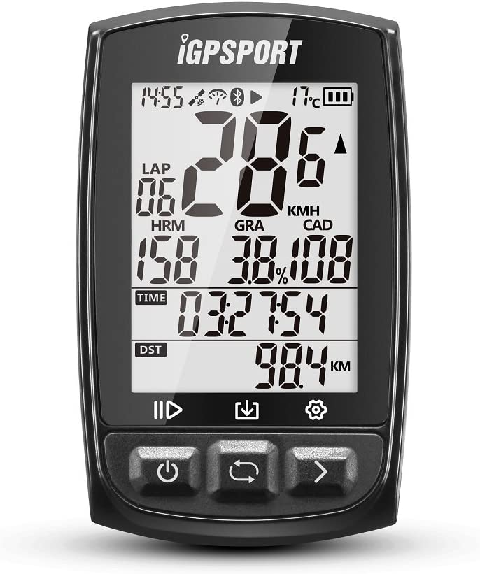 GPS Bike Computer Big Screen with ANT+ iGPSPORT iGS50E Wireless Cycle Computer Waterproof (Not Include sensors): GPS & Navigation