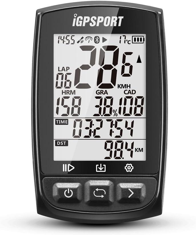 iGPSPORT Ciclocomputadores GPS iGS50E Computadora Bicicleta Inalámbrica Ciclismo Cuentakilometros Bici (Negro)