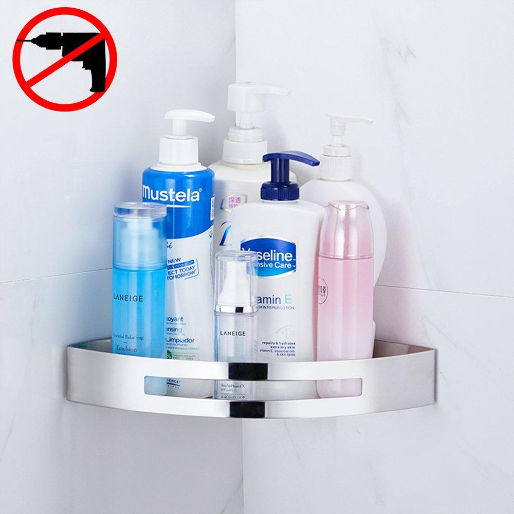 Gricol Bathroom Corner Shower Shelf Wall Caddy Stainless Steel Self ...
