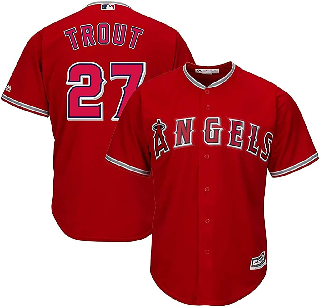 Mike Trout Los Angeles Angels MLB Majestic Youth 8-20 Red Alternate Cool Base Replica Jersey